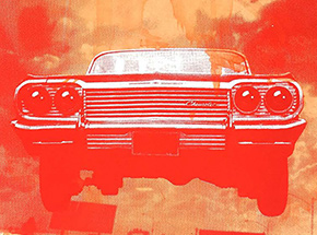 Art Print by ASVP - Car - Red & Orange Edition