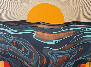 Art Print by Erik Otto - Chasing The Sun