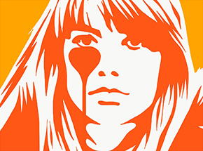 Art Print by Pure Evil - Hand-Finished Variants - Françoise Hardy - Jacques Dutronc's Nightmare - Endless Summer Edition