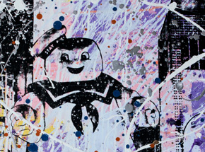 Art Print by Bobby Hill - Stay Puft - Pink & Purple Variant