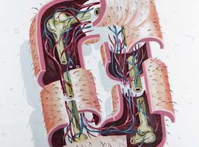 Original Art by Nychos - Dissection Of The Letter O