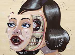 Original Art by Nychos - Pin-Up Face Off - Original Painting