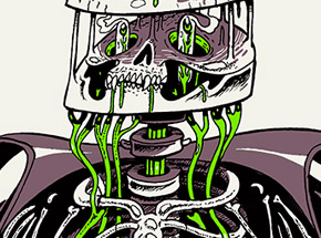Art by Nychos - Anatomy of A Vampire Green Edition