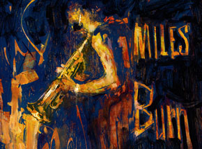 Original Art by 1xRUN Presents - Miles Burn by William Wray