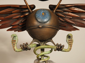 Art by Rick Griffin - Soundproof Eyeball - Bronze Edition - Patina Variant