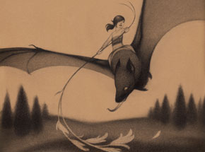 Original Art by Sam Wolfe Connelly - Bat Rider Original