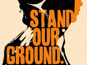 Art Print by Tes One - Stand Our Ground - Screen Print