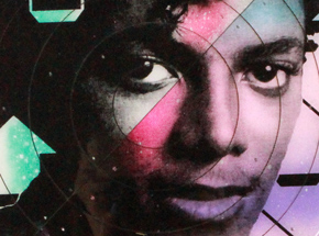 Art by Tavar Zawacki aka Above - Cut The Record - Michael Jackson #5 - Hand-Painted Multiple
