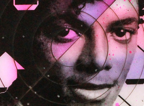 Art by Tavar Zawacki aka Above - Cut The Record - Michael Jackson #1 - Hand-Painted Multiple