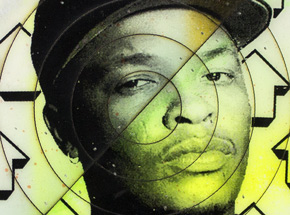 Hand-painted Multiple by Tavar Zawacki aka Above - Cut The Record - Dr. Dre #3 - Hand-Painted Multiple