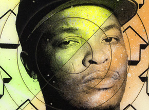 Art by Tavar Zawacki aka Above - Cut The Record - Dr. Dre #4 - Hand-Painted Multiple