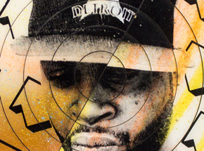 Hand-painted Multiple by Tavar Zawacki aka Above - Cut The Record - J Dilla #3 - Hand-Painted Multiple
