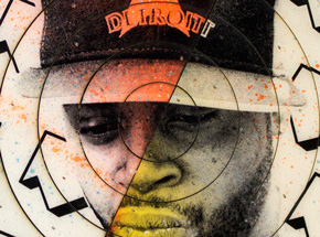 Art by Tavar Zawacki aka Above - Cut The Record - J Dilla #4 - Hand-Painted Multiple