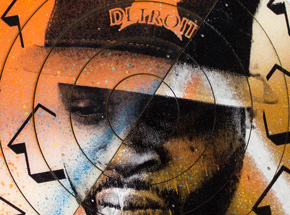 Art by Tavar Zawacki aka Above - Cut The Record - J Dilla #5 - Hand-Painted Multiple