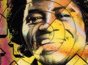 Art by Tavar Zawacki aka Above - Cut The Record - James Brown #4 - Hand-Painted Multiple