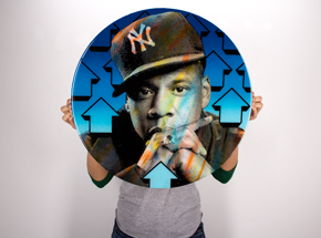 Original Art by Tavar Zawacki aka Above - Cut The Record - Jay-Z - Original Artwork