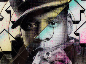 Art by Tavar Zawacki aka Above - Cut The Record - Jay-Z #1 - Hand-Painted Multiple