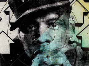 Art by Tavar Zawacki aka Above - Cut The Record - Jay-Z #3 - Hand-Painted Multiple