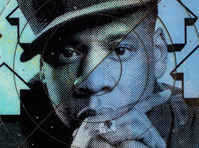 Art by Tavar Zawacki aka Above - Cut The Record - Jay-Z #4 - Hand-Painted Multiple