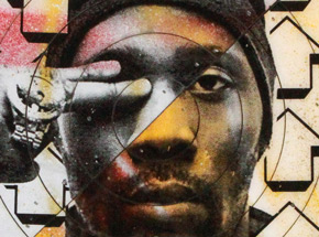 Hand-painted Multiple by Tavar Zawacki aka Above - Cut The Record - Rza #3 - Hand-Painted Multiple