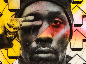 Art by Tavar Zawacki aka Above - Cut The Record - Rza #4 - Hand-Painted Multiple
