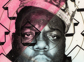 Art by Tavar Zawacki aka Above - Cut The Record - Biggie #2 - Hand-Painted Multiple