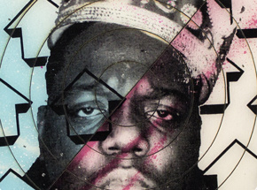 Art by Tavar Zawacki aka Above - Cut The Record - Biggie #5 - Hand-Painted Multiple