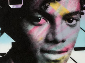 Original Art by Tavar Zawacki aka Above - Cut The Record - Michael Jackson - Original Artwork