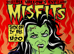 Art by Alan Forbes - Misfits - Oct. 31st, 1997 at The Palace Los Angeles