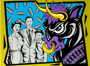Art by Alan Forbes - Rage Against The Machine - Bulls On Parade