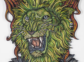 Original Art by Dennis McNett - Green Lion, The Blackening and Rebirth 2015
