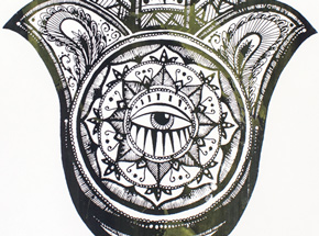 Art Print by Alice Mizrachi - Hamsa - Green Variant