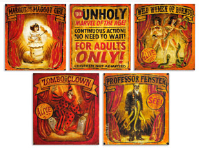 Art Print by John Dunivant - Theatre Bizarre Banner Series 5-Pack