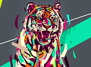 Art Print by Arlin - Siberian Tiger - 18 x 24 Inch Edition