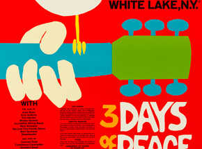 Art by Arnold Skolnick - Woodstock - 3 Days Of Peace & Music