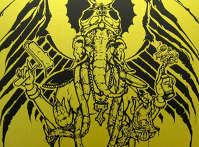 Original Art by Augor - Graffiti God - Gold Edition