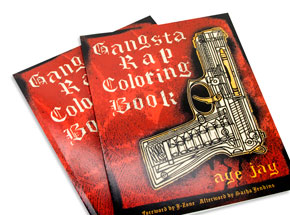 Book by Aye Jay - Gangsta Rap Coloring Book