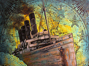 Original Art by Beau Stanton - New World Vessel III - Original Artwork