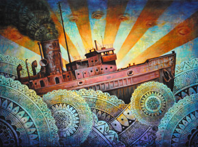 Art Print by Beau Stanton - A Precarious Voyage - Limited Edition Prints