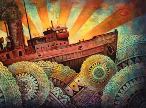 Original Art by Beau Stanton - A Precarious Voyage - Original Painting