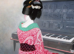 Art Print by Ron Zakrin - Beauty With Synthesizer