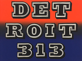 Art Print by Ben Eine - Detroit 313
