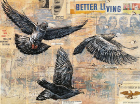 Art by Ben Horton - Better Living - Framed