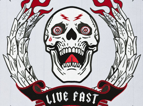 Hand-painted Multiple by Ben Venom - Live Fast