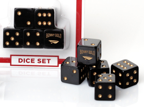 Art Print by Benny Gold - Picture Me Rollin' Dice Set