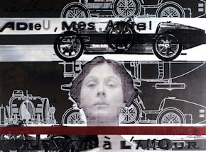 Original Art by Bethany Shorb - Isadora Duncan + Bugatti Type 35: Adieu Mes Amis!