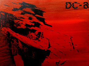 Art by Bethany Shorb - DC8 V - Black On Red