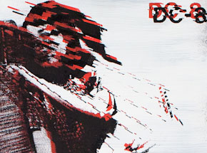 Art by Bethany Shorb - DC8 VII - Black + Red On White