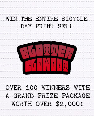 Art by 1xRUN Presents - Enter the Blotter Blowout Sweepstakes
