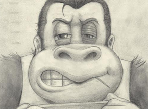 Original Art by Bob Dob - Mug Shot Donkey Kong